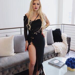 Versace inspired bandage dress